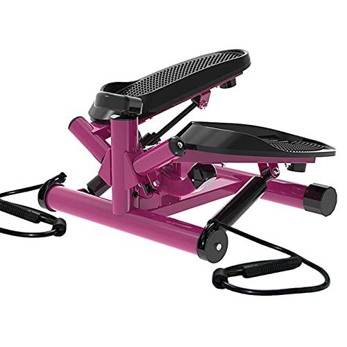 YLCJ Paso A Paso De Mini Cross Trainer De Pink Mute,Máquina De Escalada Multifunction Up Down Swing Twist para Fitness,Entrenamiento,Ejercicio para Hombres Y Mujeres-Morado 39.5 * 49 * 34cm