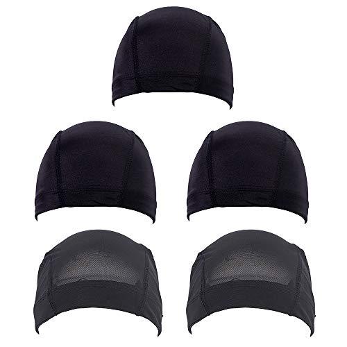5 piezas de malla cúpula peluca casquillo Spandex