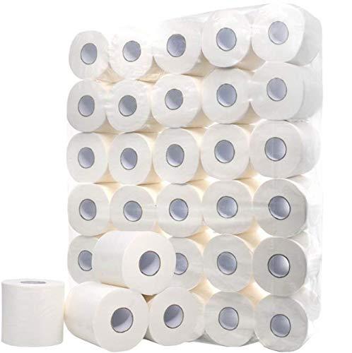 Defacto Toilettenpapier Klopapier WC-Papier 3-Lagig Zellstoff Weiß Weich FSC® Lizenz (64)