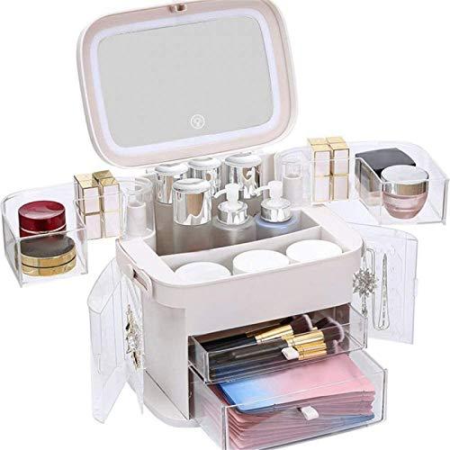 ETE ETMATE Organizador de Maquillaje con luz LED, con Espejo y luz,...