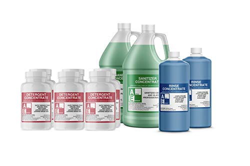 Shipper Value Pack (3-detergent, 2-Sanitizer, 2-rinse), Commercial Grade,