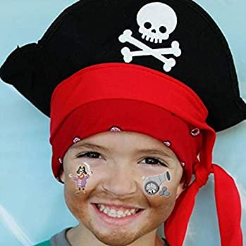 Pirate Temporary Tattoos 85 designs ,COKOHAPPY 10 Sheets Pirate Kids Tattoos Pirate Temporary Tattoos for Girls Boys Kids Party Bag Filler Children s Birthday Gift Pirate Party Supplies Favors