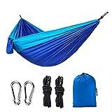 FMC Hamaca Portátil Ligero De Nylon, Nylon Hamaca Camping, Mejor Hamaca Doble Paracaídas Adecuado para Acampar Interior del Patio Trasero