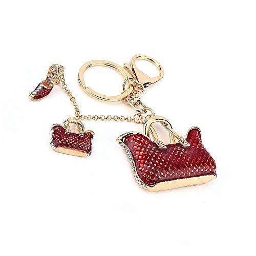 Crystal Bag Shape Keyring Rhinestone Keychain Bling Purse Pendant Handbag