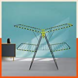 Bathla Mobidry Duo - Medium Size, 2-Level Foldable Cloth Drying Stand with Socks