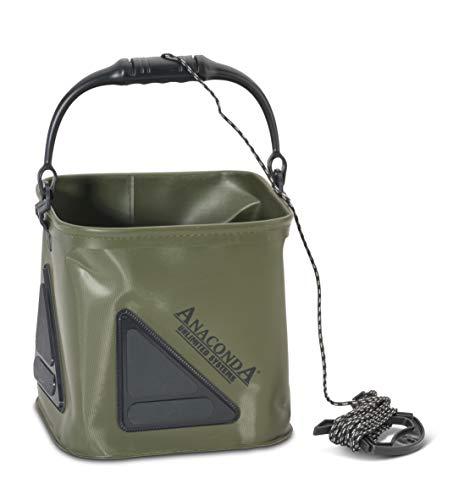 Sänger Top Tackle Systems Unisex– Erwachsene Anaconda Pull Up Bucket 17 (17 Liter Wassereimer), Schwarz-Grau-Grün