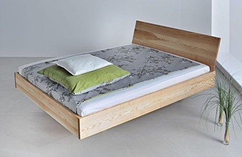 shogazi  Schlafkultur Massivholzbett Quadra - hochwertiges Vollholzbett - Esche massiv, Größe:140x210cm