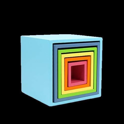 JKMQA DIY 3D Juguetes de Madera Bloques de construcción de Arco Iris Arco Iris Apilador de Gran tamaño Montessori Creativo Juguetes educativos para niños niños (Color : LTC00626L)