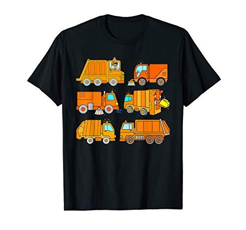 Müllauto Müllmann Müllwagen Müllfahrzeug Müllabfuhr Kinder T-Shirt