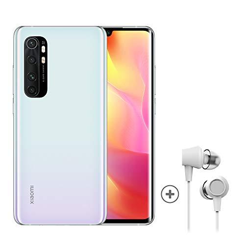 Xiaomi Mi Note 10 Lite Smartphone + Kopfhörer (16,43 cm (6,47″) FHD+ Display, 64GB interner Speicher, 6GB RAM, 64MP Rückkamera, 16MP Frontkamera, Dual-SIM, Android 10) Weiß - [Exklusiv bei Amazon]