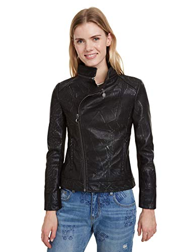 Desigual Coat Dante Abrigo, Negro (Negro 2000), 42 (Talla del Fabricante: 40) para Mujer