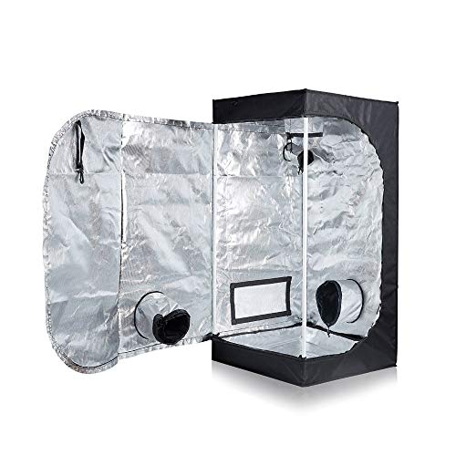 "TopoLite 24""x24""x48"" Indoor Grow Tent Hydroponic Growing Dark Room w/Plastic Corner (24""x24""x48"")"