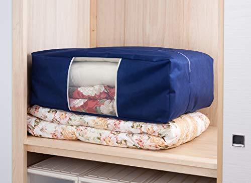 『アストロ 収納ケース 布団一式用(掛け・敷き布団各1枚) ネイビー 羽毛布団 収納袋 不織布 177-06』のトップ画像