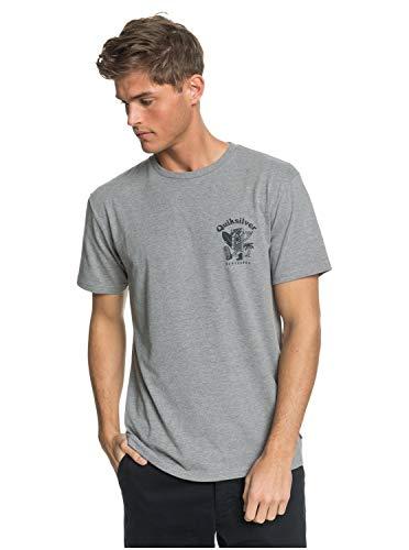 Quiksilver Herren Walking Backwards Tee Hemd, Medium Grau meliert, Groß