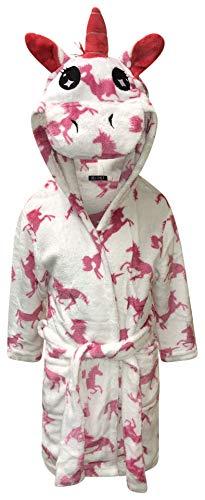 Live It Style It Bata de niños Albornoz Suave con Capucha Regalos de Unicornio para niños para niñas