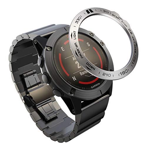 NICERIO Kompatibel für Garmin Fenix ??5X Lünettenring Anti-Kratz- Und Kollisionsschutz Kompatibel für Garmin-Uhr