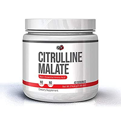 Pure Nutrition L CITRULLINE Malate Powder 214 Grams 40 Servings 100% Pure|Nitric Oxide PRE Workout Booster
