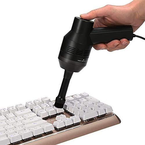 ZSXZX Aspiradora Inalámbrica USB, Herramienta De Limpieza De Teclado para Computadora Portátil, Computadora De Escritorio, Mini Sistema De Filtrado De EVA Recargable De Mano, Reducción De Ruido