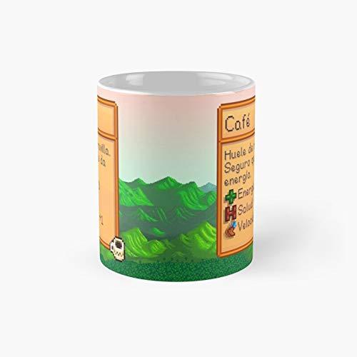 Stardew Valley - Taza clásica española de café con el mejor regalo, tazas divertidas de 11 onzas