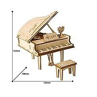 youwu DIYグランドピアノおもちゃ3D木のパズルのおもちゃのアセンブリモデルの子供のための木の机の装飾