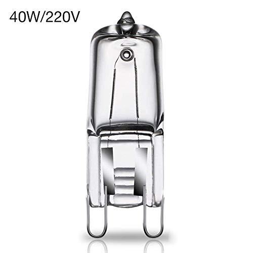 Ardentity G9 Halogen Stiftsockellampe, 40W 220/110V für Backofen und Mikrowellenanwendungen 500 Grad, Oven Lampe f Backofen Herd