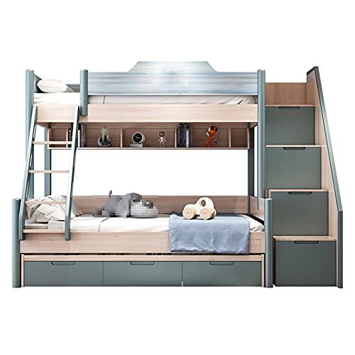 HXXXIN Litera Cama para Niños Combinación De Dos Capas Inferior Litera Simple Dormitorio Multifuncional Moderno Cama Alta Y Baja