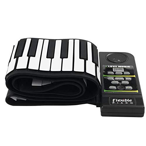 ClothHouse 88 Chiave Roll Up Piano con Pedale Sustain E Altoparlante Stereo Incorporato, Supporta Le Funzioni di Ingresso Audio per Microfono Midi out, Ottimo Regalo di Natale