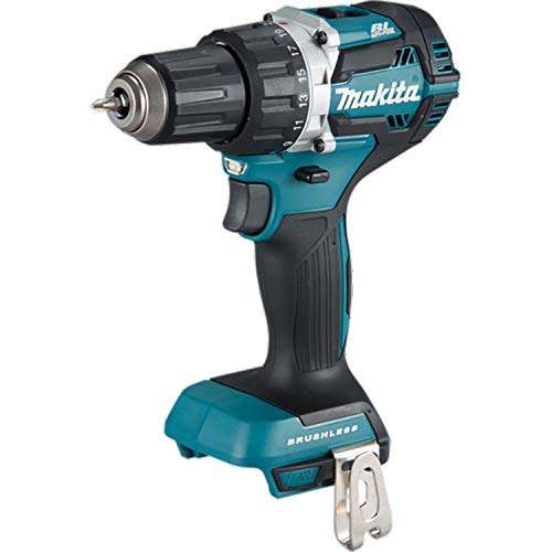 Makita DDF484Z Cordless Brushless Drill Driver, 18V, 182mm Length, Blue/Black