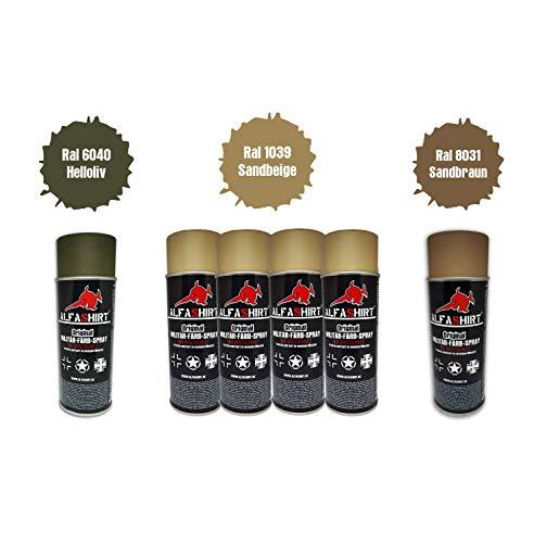 BW 25407 Kit de Peinture ISAF RAL 1039-Ral 6040-Ral 8031 en Spray