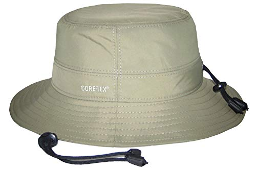 Wegen Gore-Tex-hoed, met uv-bescherming, beschermingsfactor 40+, van microvezel. Winddicht, regendicht en ademend. Vishoed