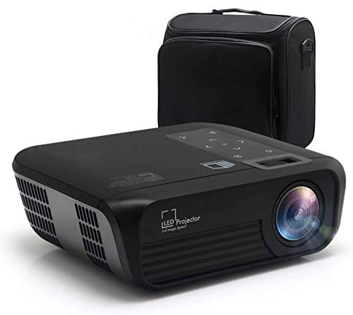 Mini Smart Projector P19 HD 1080P Supported, Home Theater Video Projector with 176'' Projector Size 55000 Hours, Compatible with TV Stick,HDMI,AV, USB,Laptop