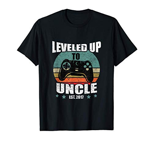 Hombre Divertido Ser Un To Regalo Leveled Up To Uncle 2017 Camiseta