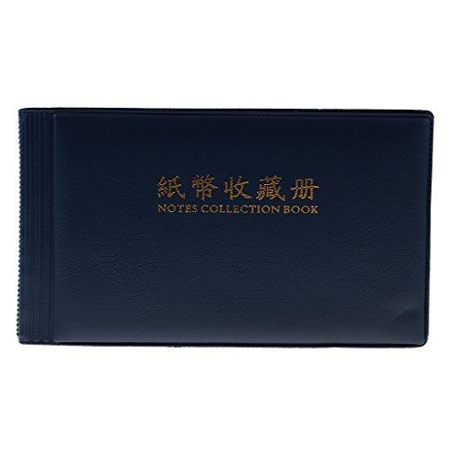 Sharplace 30 Páginas Papel Moneda Colección de Billetes álbum de Memoria Protección del Libro - Azul
