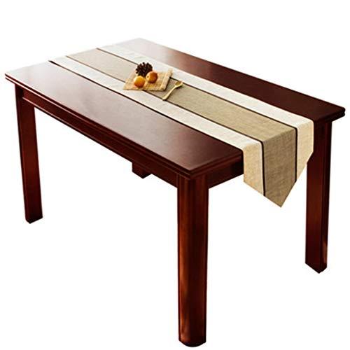 Tissu en polyester, brun clair, longue table en marche, convient au meuble TV (Couleur : Marron, Taille : 35×220cm)