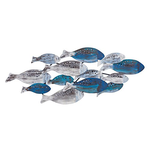Danya B. School of Fish Modern Metal Wall Art Perfect for Coastal, Nautical, Beach, or Boat Dcor