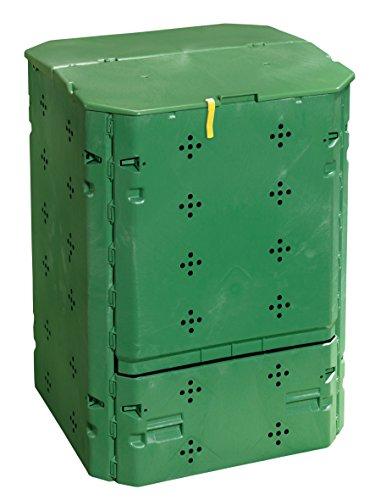 Juwel Ganzjahres-Komposter BIO 600 (Nutzinhalt 600 l, für Garten- und Küchenabfälle, Gartenkomposter mit Befüllklappe mit Windsicherung, UV- /witterungsbeständig, Behälter Recyclingkunststoff) 20153