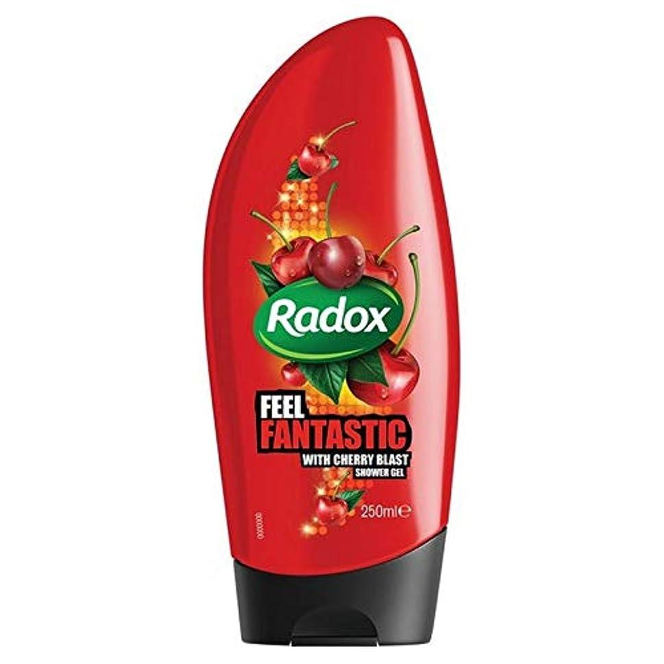 カレッジ欠かせない無能[Radox] Radox桜ブラストシャワージェル250ミリリットル - Radox Cherry Blast Shower Gel 250ml [並行輸入品]