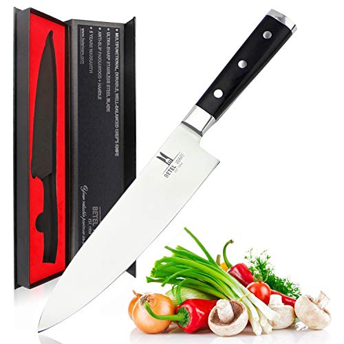 Magicdo Cuchillo de Cocina de 20 cm Cuchillo Chef Profesional Cuchillo Carne de Cuchillo de Uso General Cuchillo Cuchillos de Acero Inoxidable para Cortar con Caja de Regalo