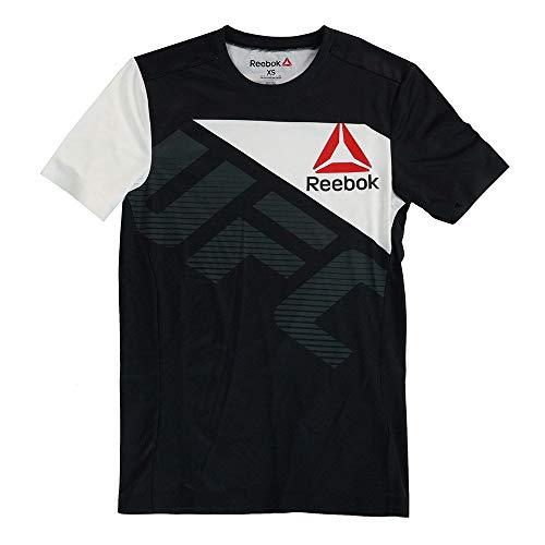 adidas Reebok UFC Official BKK - Camiseta de manga corta para hombre, XS, Negro ⭐