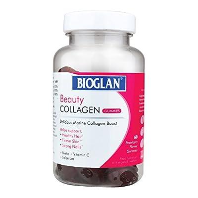Bioglan Collagen Gummies   1000mg   Hydrolysed Marine Collagen   Biotin   Selenium & Vitamin C   Strawberry Flavoured   60 Gummies
