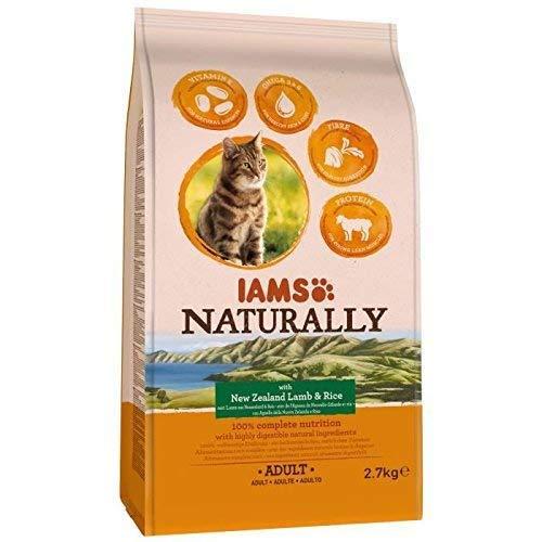 Iams 11224/3592 Naturally Katze Lamm (Trockenfutter für Erwachsene Katzen mit Lamm aus Neuseeland und Reis), 2700 g