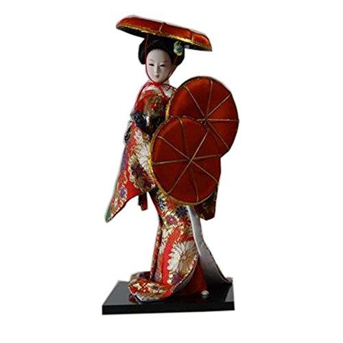 Muñecas japonesas Geisha Girl Geiko Kimono muñeca decoración del hogar Colección de arte, # 22