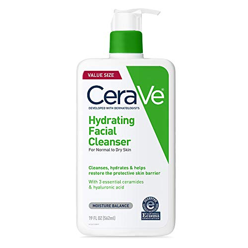 Price comparison product image CeraVe Hydrating Facial Cleanser / Moisturizing Non-Foaming Face Wash with Hyaluronic Acid,  Ceramides & Glycerin / 19 Fluid Ounce