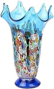 Original Murano Glass OMG Artico - Jarrón de cristal de Murano, color azul claro