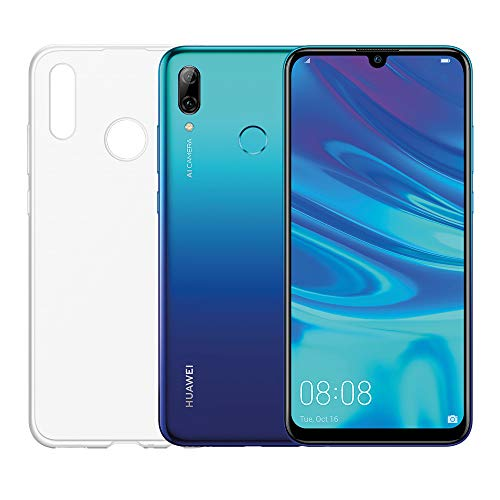 "Huawei Psmart 2019 (Aurora Blu) più esclusiva cover trasparente, Telefono con 64 GB, Display 6.21"" Full HD+, Processore Octa Core dinamico con Intelligenza Artificiale"