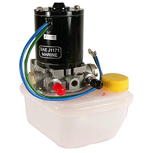 TRM0089 Tilt Trim Motor Pump & Reservoir Compatible with/Replacement for Power Pole Sportsman Anchor 4-6789, Pump SPN-F