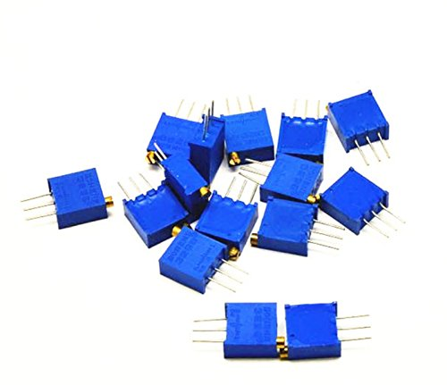 85pcs 3296W einstellbares Potentiometer Cermet Trimmer Packung 10ohm - 2M 17 Werte