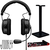 beyerdynamic MMX 300 PC Gaming Digital Headset with Mic, Headphone Stand & Gaming Mouse Pad