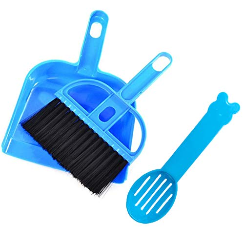 Yu-Xiang 3 Pack Hamster Mini Dustpan and Broom Set Guinea...