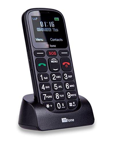 TTfone Comet Big Button UK SIM-Free Emergency Mobile Phone - Black